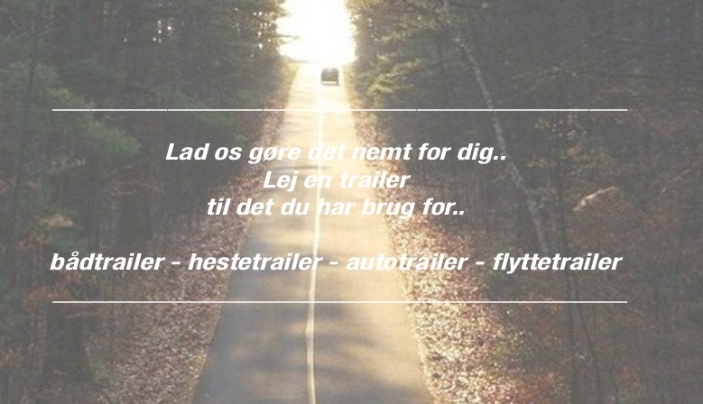 Lej trailere hos Fritidsudlejning.dk